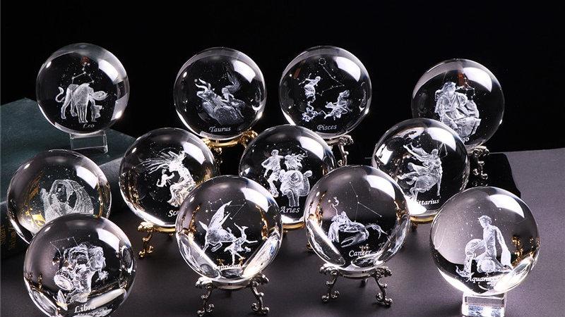 Zodiac Sign Crystal Ball Ornaments