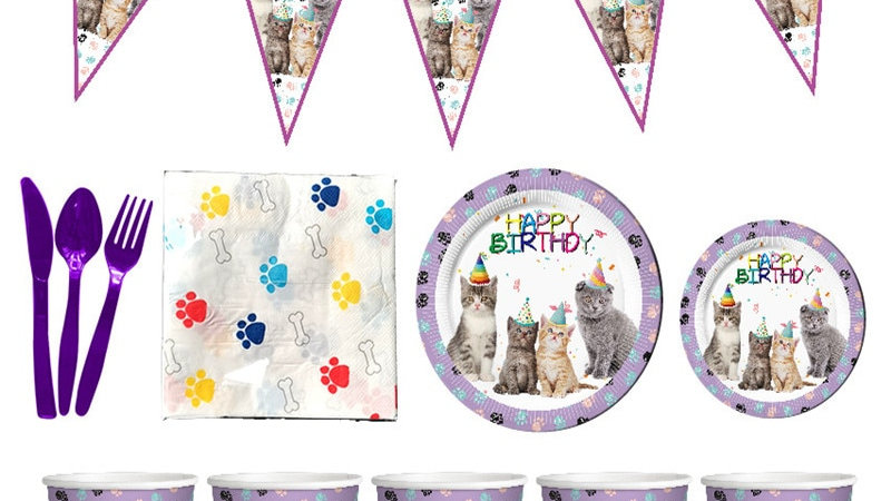 Cat Print Party Supplies