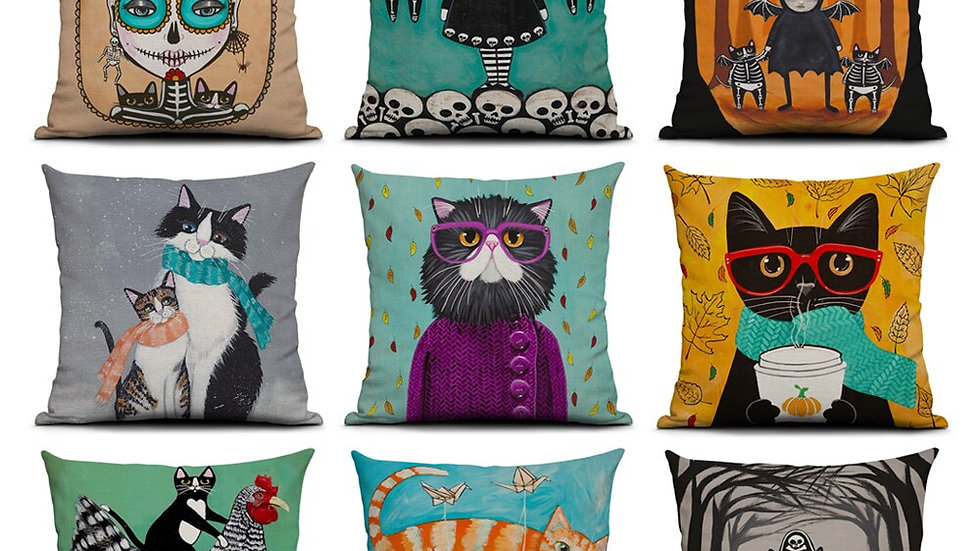 Kitty Cushion Covers