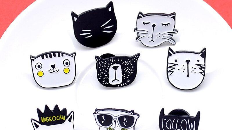 Kitten Themed Brooches