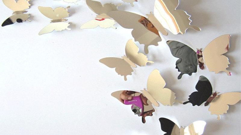 3D Butterflies Wall Art