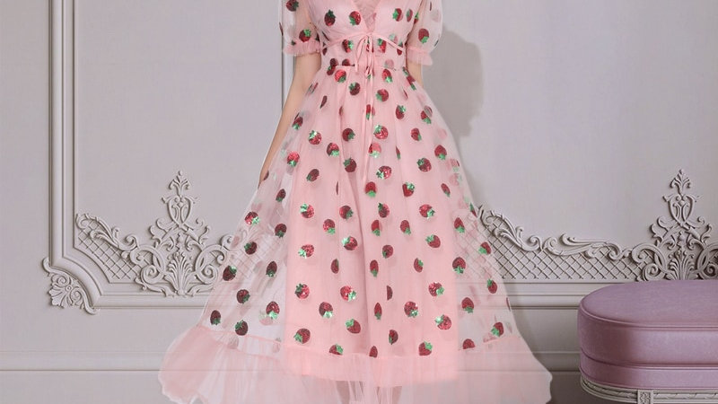 Maxi Strawberry Dress