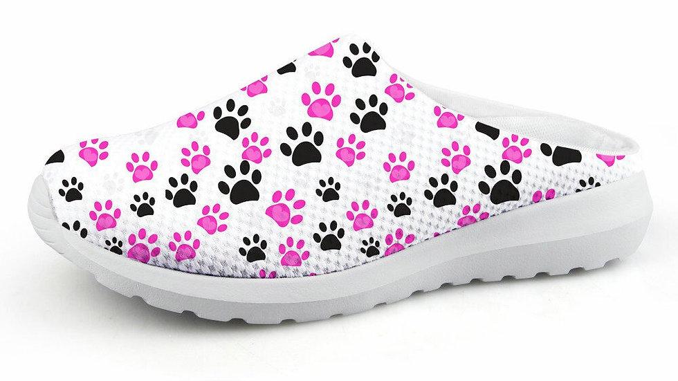 Mesh Paw Print Sandals