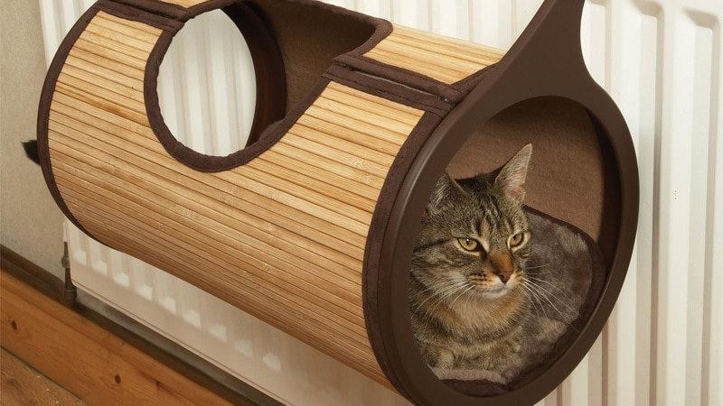 Natural Bamboo Cat Bed