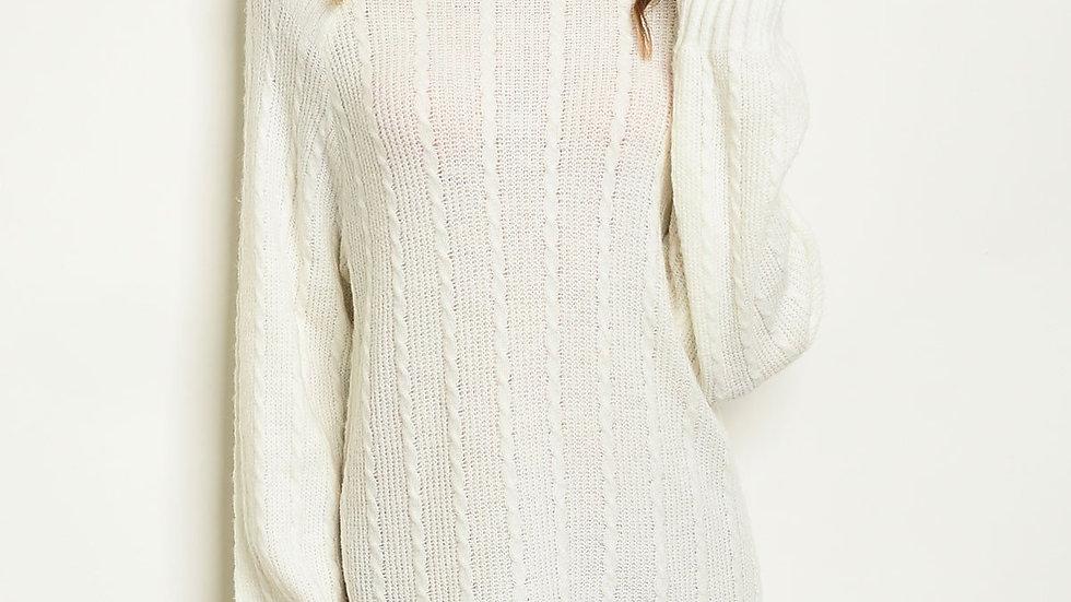 Long sleeve Ivory Dress