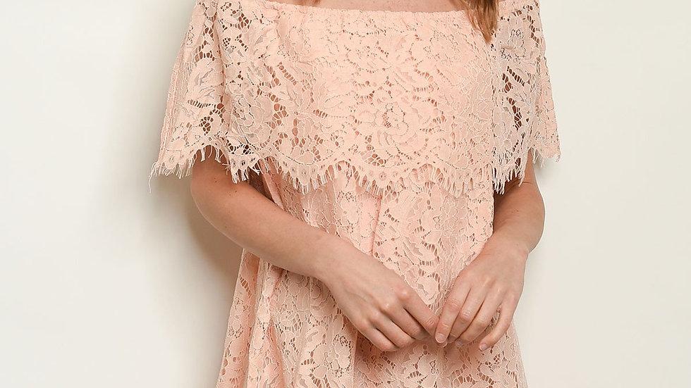 Lace Ruffled Dress
