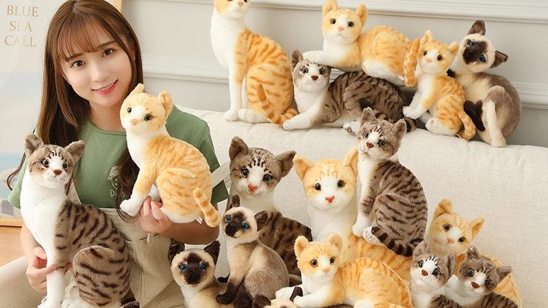 Super Cute Plush Kitty Pillows