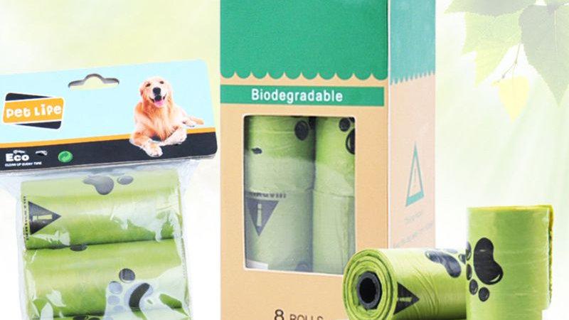 Eco-Friendly Biodegradable Dog Waste Poop Bags Home Kitchen Trash Bag