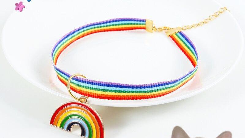 Rainbow Kitty Collar