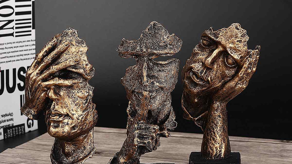 Abstract Face Sculptures