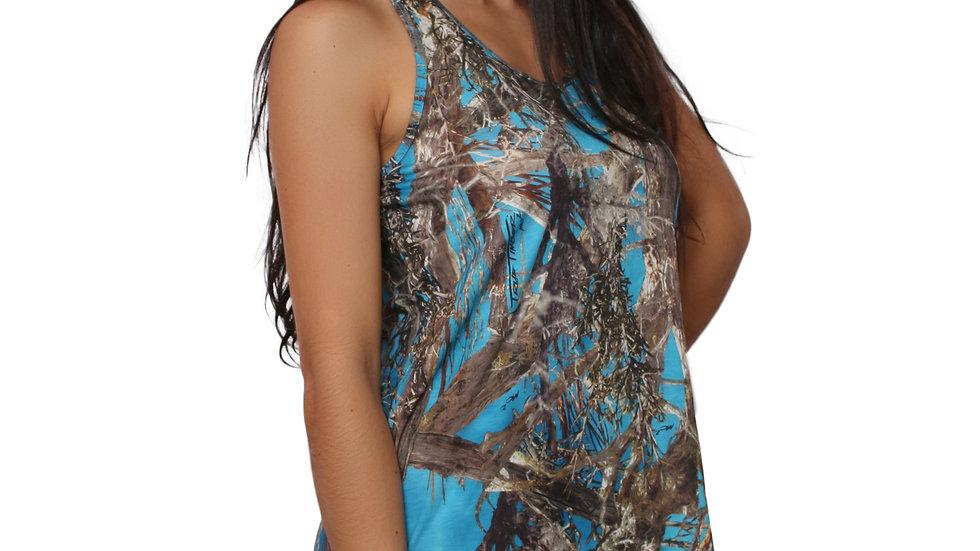 Women's Dress With Golden Pattern