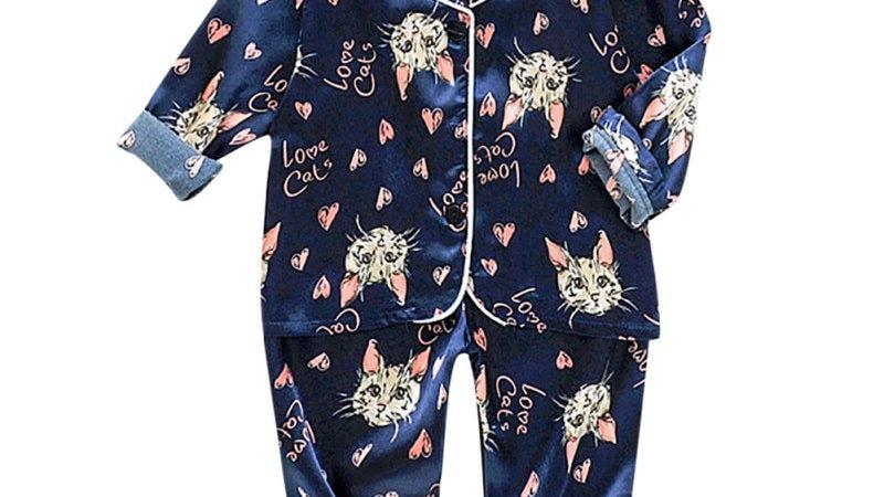 Kids/Baby Cat Pyjama Sets