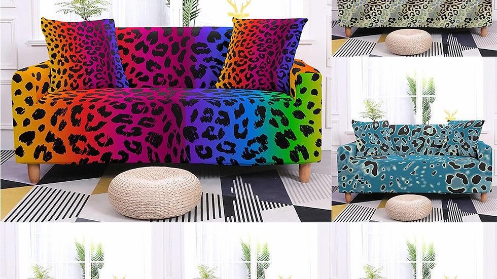 Leopard Print Elastic Sofa Sleeve