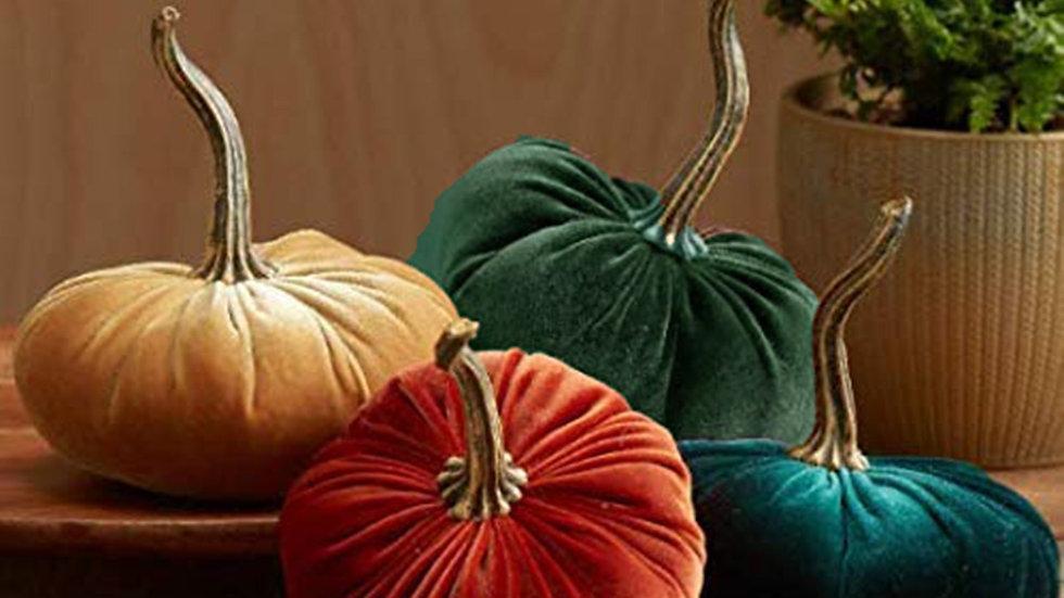 Handmade Velvet Pumpkin Decor
