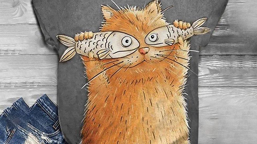 Women's Cat Fish T-Shirt