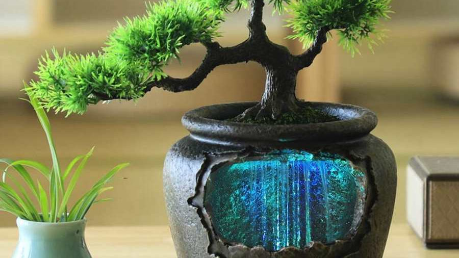 LED Waterfall Bonsai Ornament
