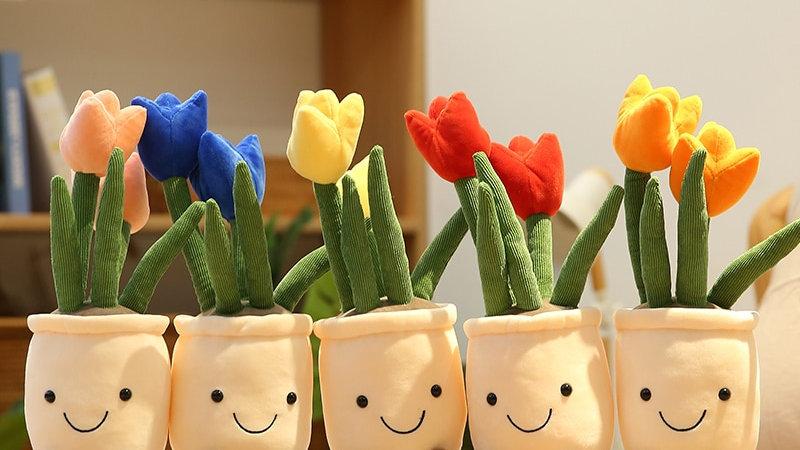 Cute Flower Pot Plushies