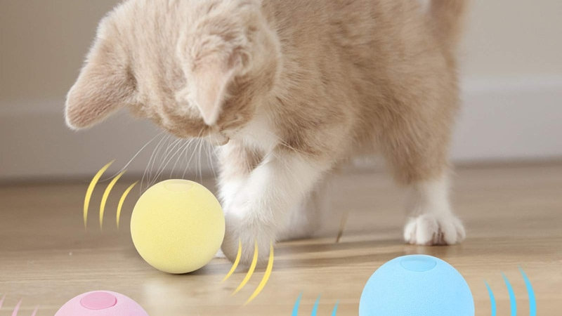 Smart Cat Toys Interactive Ball Catnip Cat Training Toy