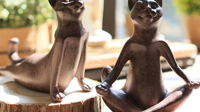 Yoga Cat Ornaments