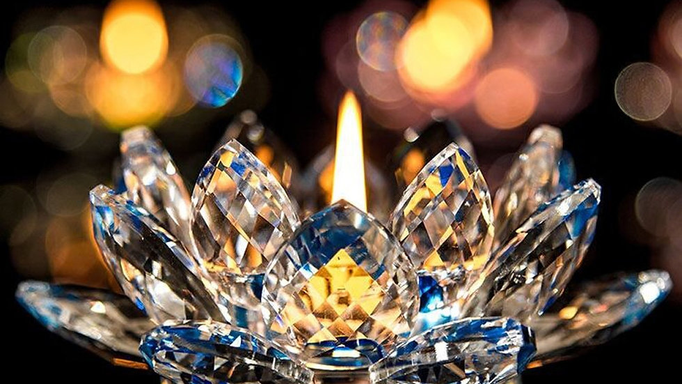 Crystal Lotus Candle Holders