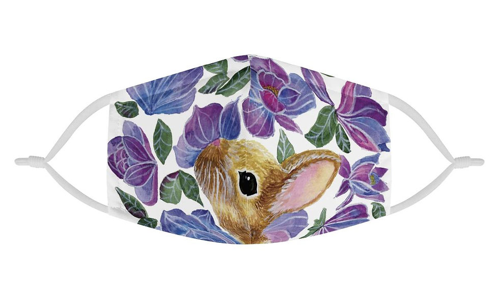 Floral Bunny Face Mask