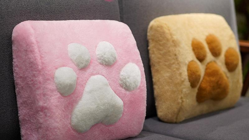 Animal Paw Back Cushions