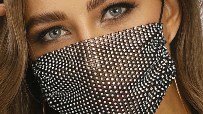 Sexy Glitter Rhinestone Face Mask