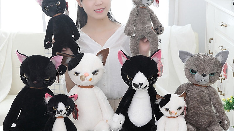 Plush Angry Face Cat Toys
