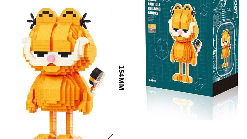 1032pcs+ Garfield Diamond Building Block Cat Figure