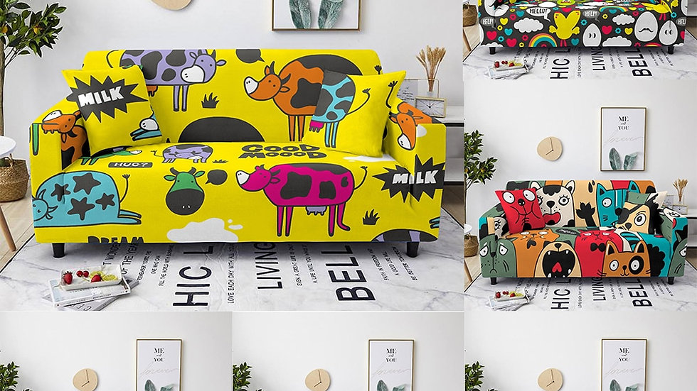 Cute Monster Sofa Seat Cover