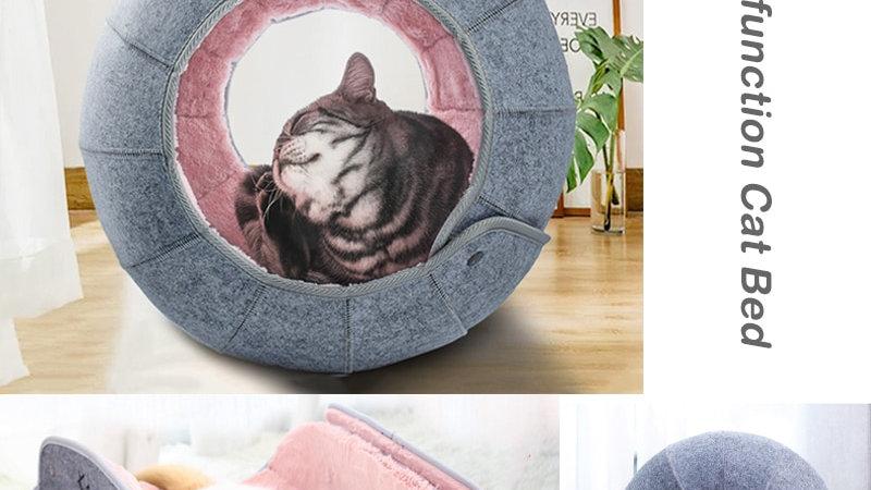 Round Felt Cat Nest