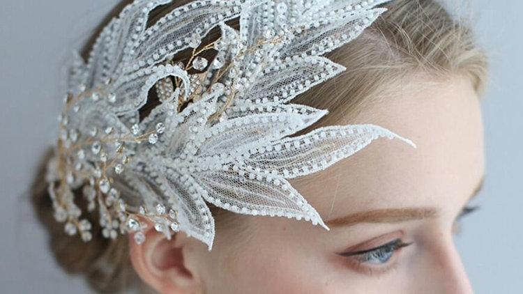 Handmade Crystal Bridal Headband