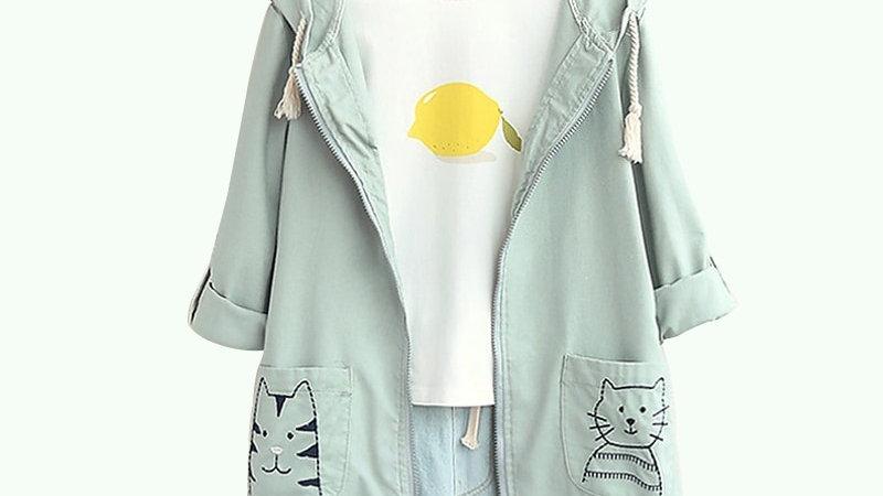 Japanese Kawaii Cat Hooded Jacket