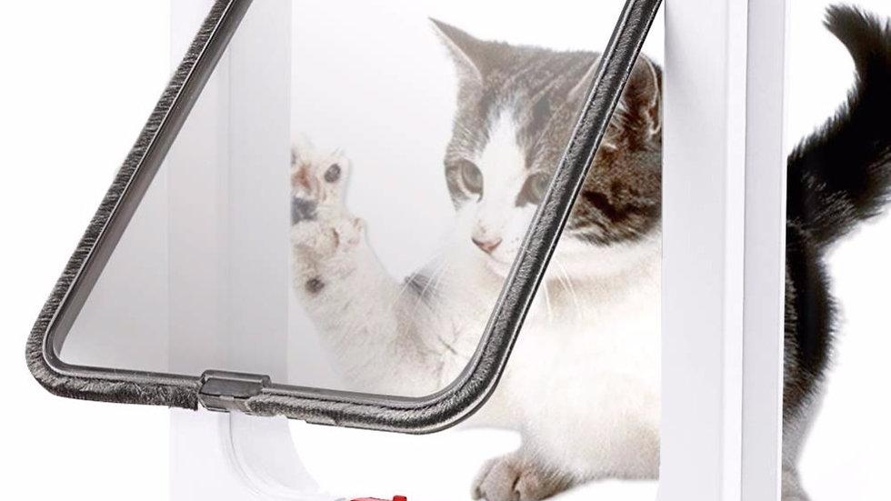 Cat Flap Door With 4 Way Lock Security