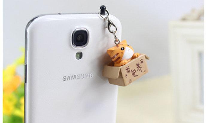 Phone Cat  Charm