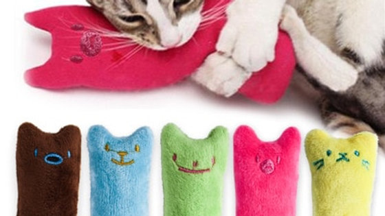 Teeth Grinding Catnip Toys Funny Interactive Plush Cat Toy