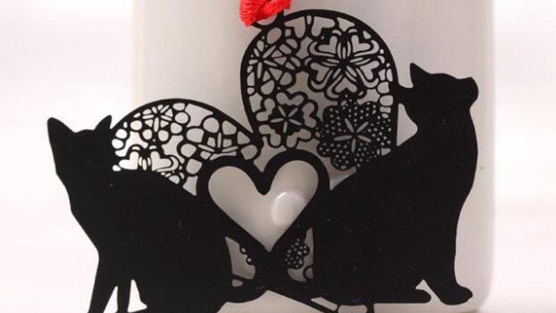 Cute Black Cat Bookmark