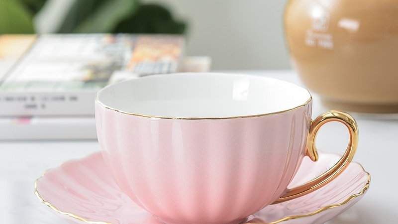 Gold Trim Porcelain Cups