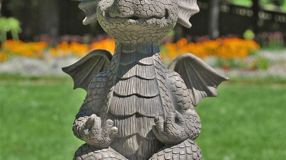 Meditating Dragon Statue