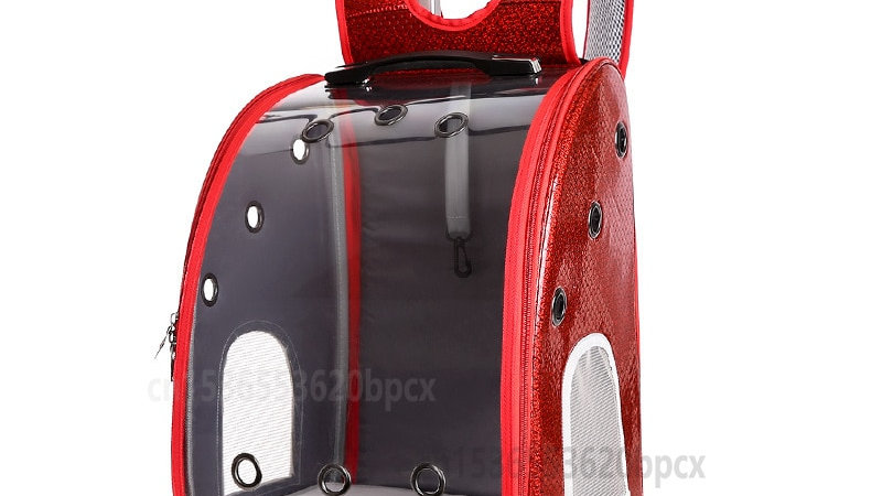 Transparent Pet Backpack with Wheels