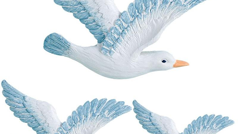 3pcs/Set Seagull Wall Ornaments
