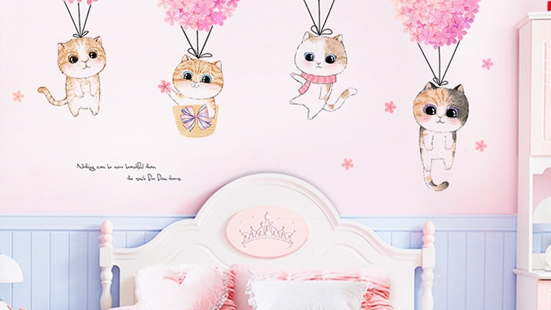 Cute Girly Bedroom Wall Stickers