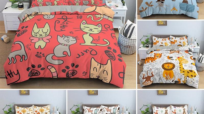 Cartoon Animal Bedding Set