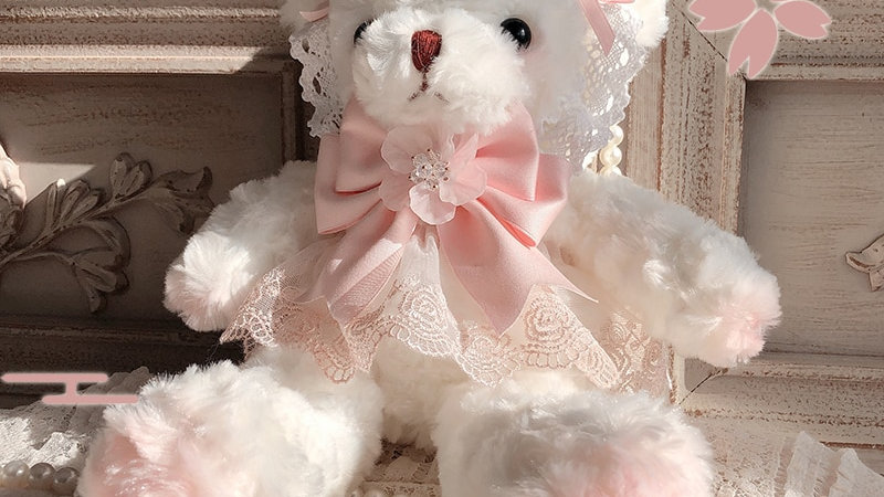 Lovely Lace Plush Bear Bags
