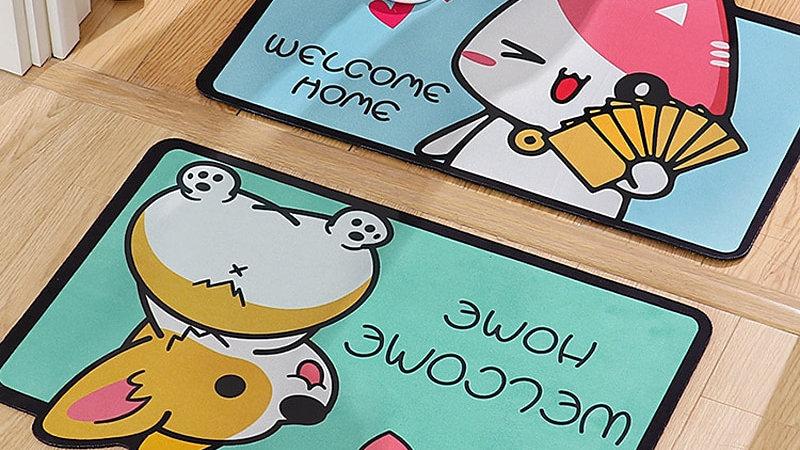 Cartoon Animal Floor Mats