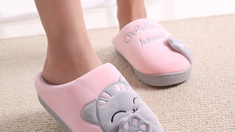 Cat Winter Home Slippers