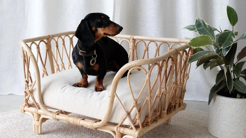 Handmade Rattan Woven Cat Bed Dog Bed Detachable