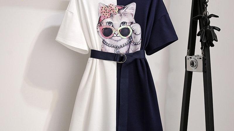 Women's Cat Summer Dress