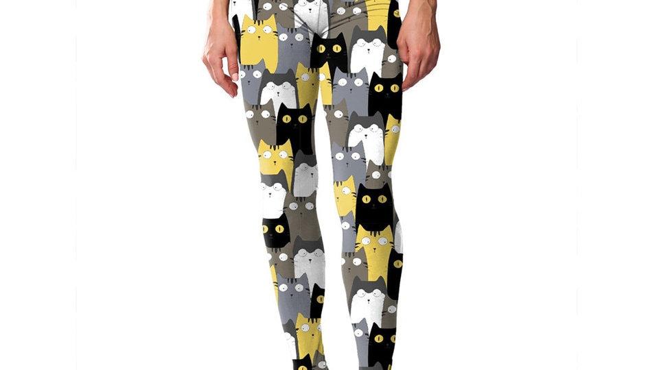 Women's Cat Print Leggings