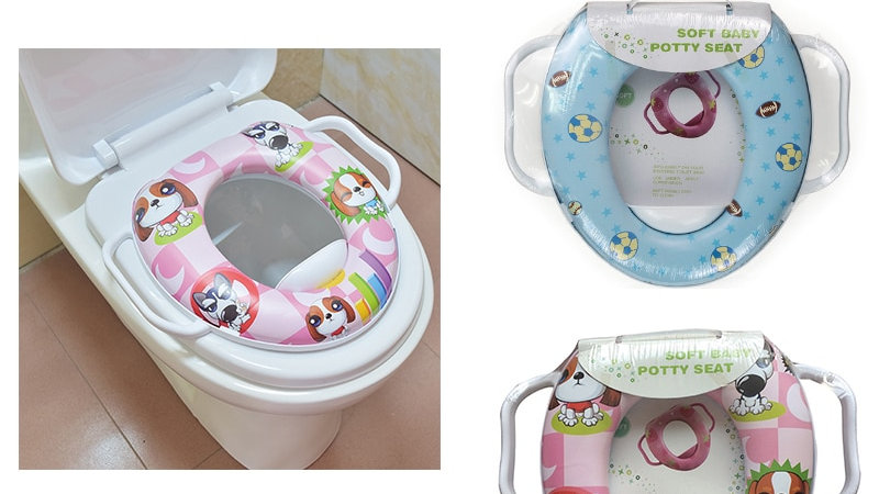 Eco-Friendly Infant Soft Cushion Baby Toilet Seat Trainer With Handle